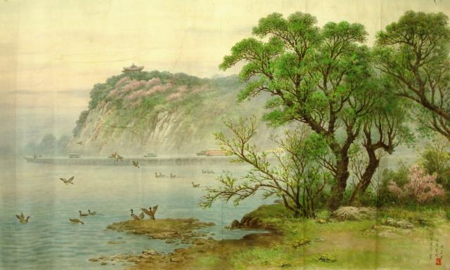 [转载]朝鲜山水画,花鸟画,油画,人物画作品36幅 (6)