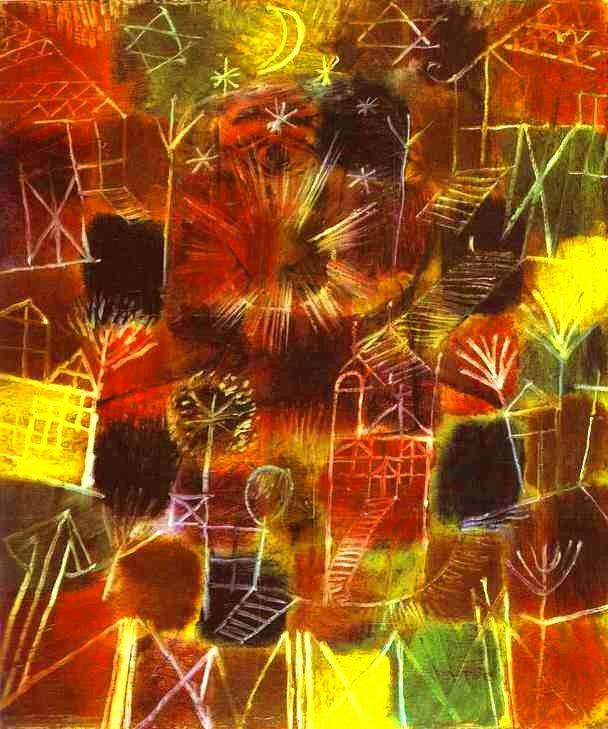 클레의 그림들은 자유로움으로 통하는 창문입니다.