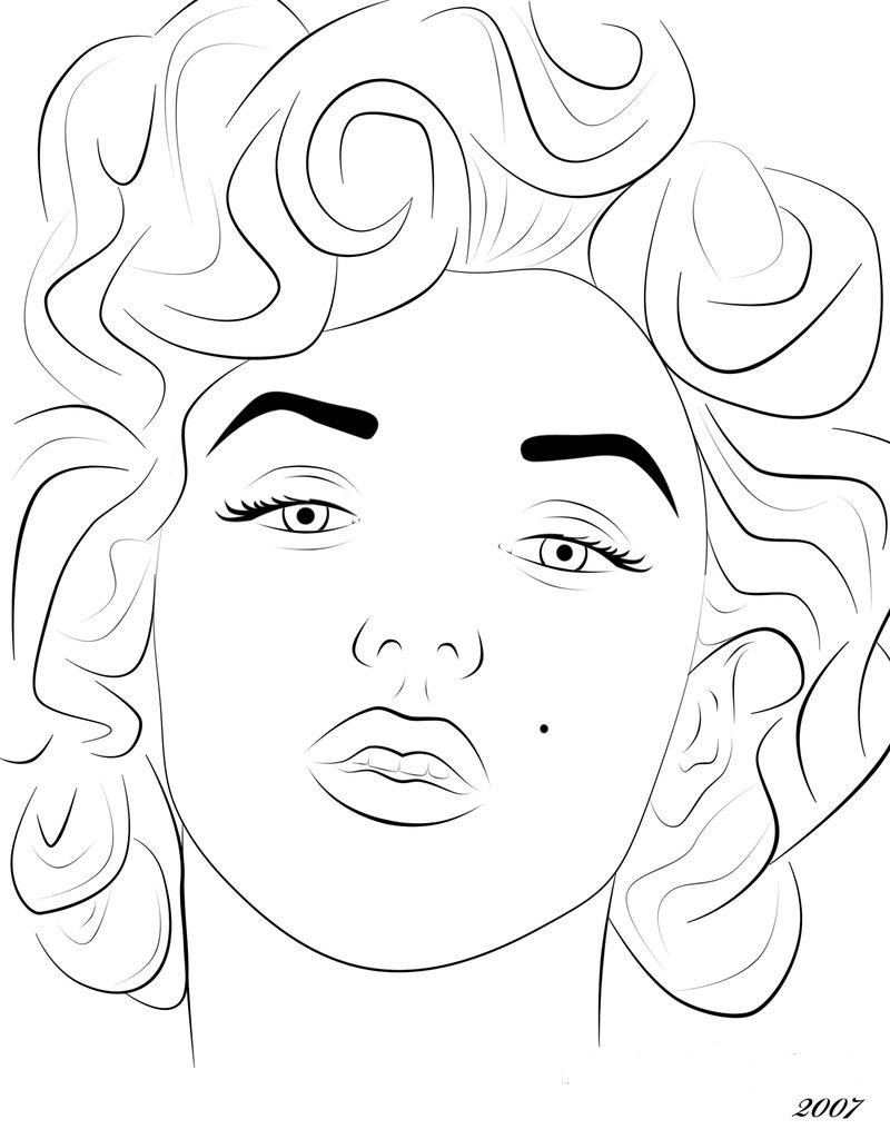 printable marilyn monroe coloring pages - photo#12
